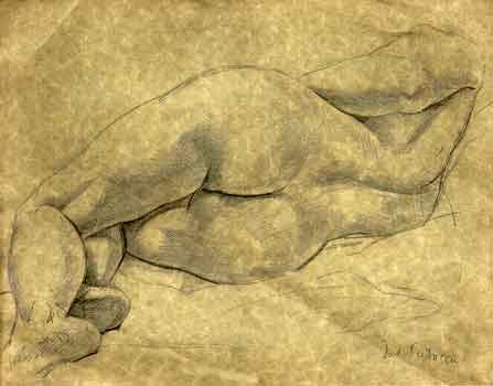 Model Resting Drawing