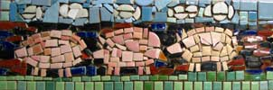 Three Pigs Mosaic