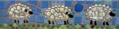 Three Sheep Mosaic