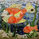 Red Fish Mosaic