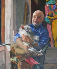Artist with Dog